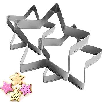 seebesteu Conjunto de Cortador de Galletas con Diseño de Animal para Galletas (3pcs Estrellas): Amazon.es: Hogar