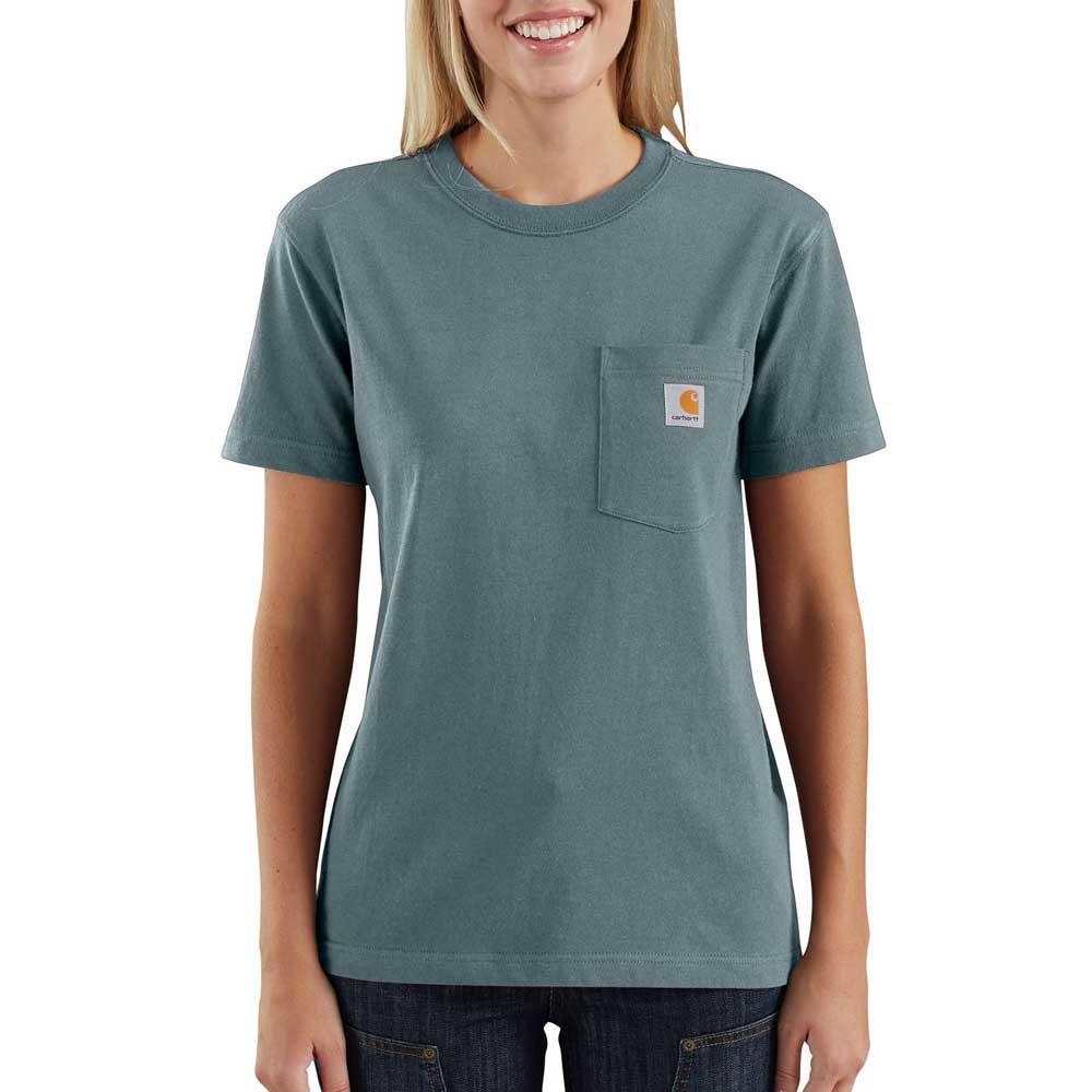 Carhartt Women's WK87 Workwear Pocket SS T-Shirt, Sea Glass, XL