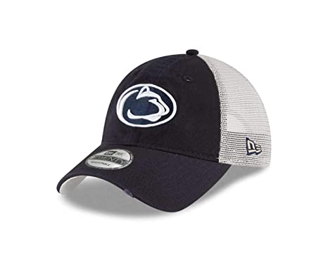 New Era Penn State Nittany Lions Stated Back 9TWENTY Adjustable Trucker Hat  Cap 599b0dd05f0