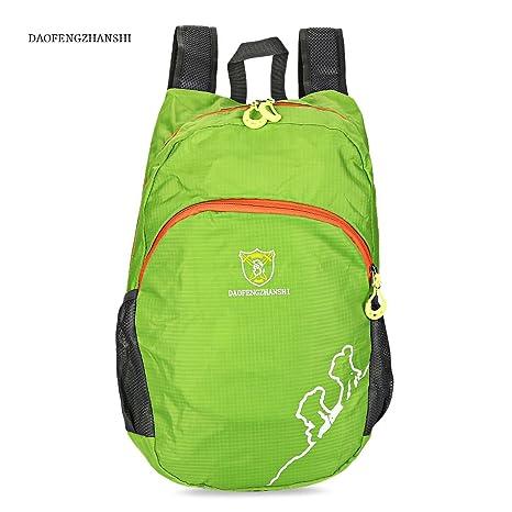 55b469a87f PALAY DAOFENGZHANSHI Light Portable Hiking Bag Folded Travel Backpack (Green)   Amazon.in  Bags