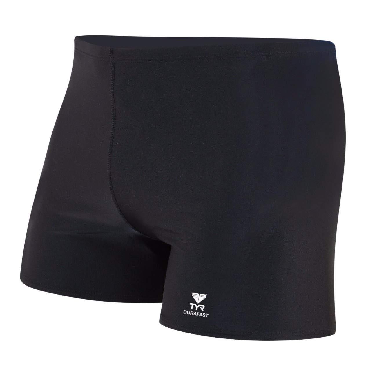 TYR Men's Durafast Elite Solid Square Leg Swimsuit
