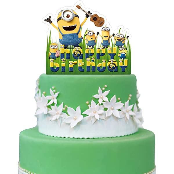 Fabulous Amazon Com Minions Cake Topper Despicable Me Birthday Collection Funny Birthday Cards Online Inifofree Goldxyz