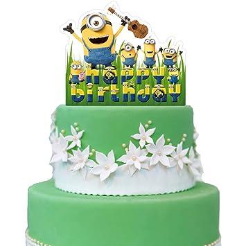Amazon.com: Minions Cake Topper, DESPICABLE ME Birthday ...
