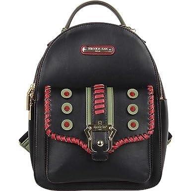 03414c052dae Nicole Lee Eleri Buckle Backpack (Black)