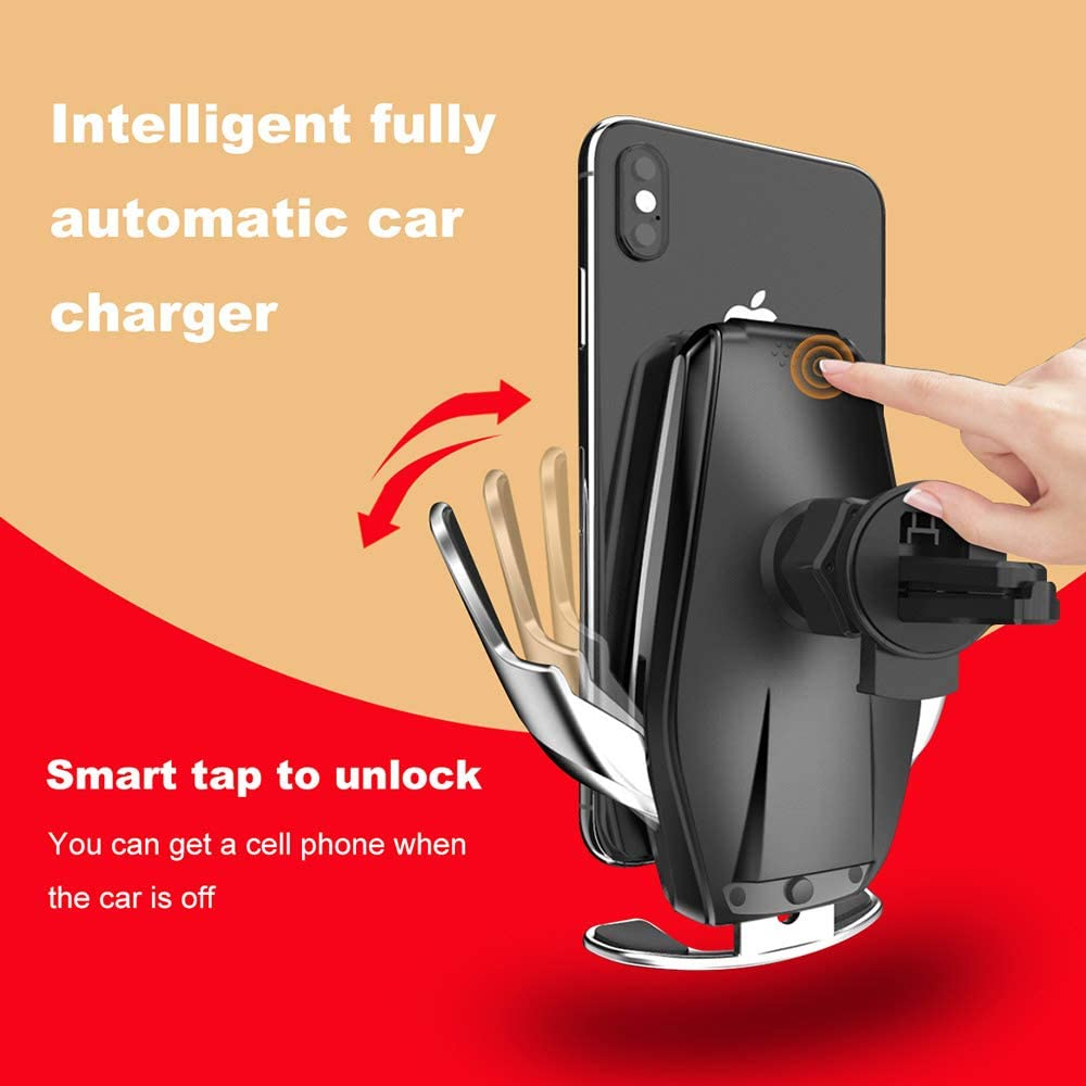 15W Fast Qi Wireless Car Phone Holder Infrared Sensor Automatic Clamping Car Holder Air Vent Mount for iPhone 11//11pro//Xs//X//XR//8//8 Plus FDGAO Wireless Car Charger Mount Samsung S20//S10//S9//Note 9//8