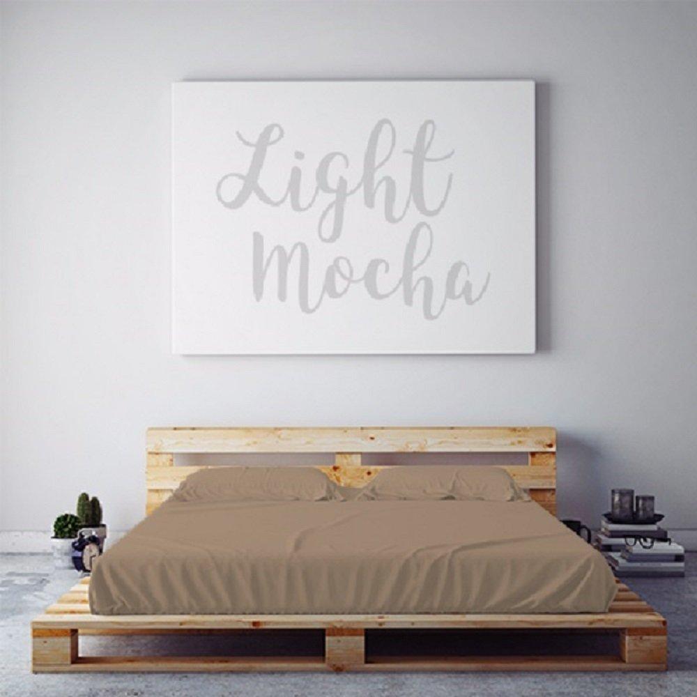 PeachSkinSheets Night Sweats:オーセンティック 湿気発散 1500スレッドカウント ソフトシーツセット フル B011IXSCBG フル|Light Mocha Light Mocha フル