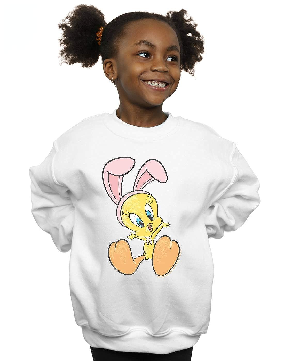 Looney Tunes Girls Tweety Pie Bunny Ears Sweatshirt