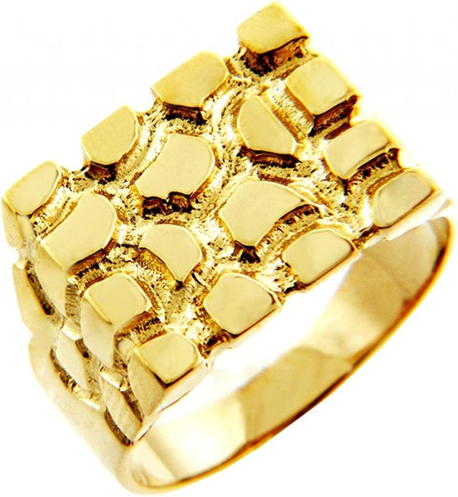 Nugget Rings Men's 14k Gold The Armour