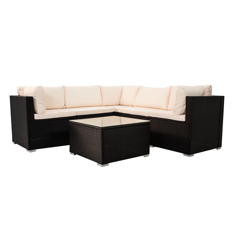 Polyrattan Rattan Lounge Gruppe Loungeset Gartenmöbel Sitzgruppe