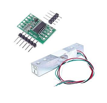 Aihasd Celda de Carga Digital Sensor de Peso 1kg Portátil Escala electrónica de la Cocina +