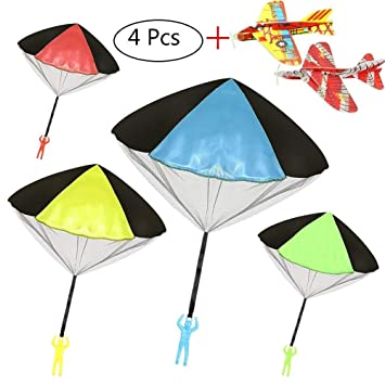 Con Cometas 2 De Libre Mini Para Avión Al Aire Paracaidas Niñas Juguete Lanzar Niños Soldados Tacobear 7y6YbfmgvI