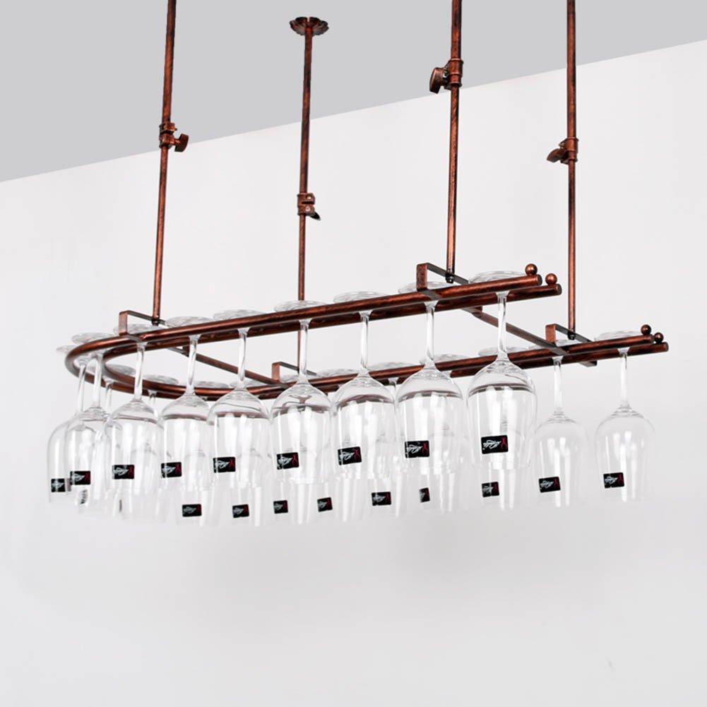TLMY ホーム錬鉄製のバーは、赤ワインのカップラックを逆さに装飾 ワインラック (サイズ さいず : 60*25センチメートル) B07F3Q2XJS   60*25センチメートル