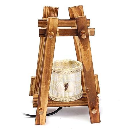 Lámpara de Escritorio LED Vintage Lámpara de Mesa Pastoral ...
