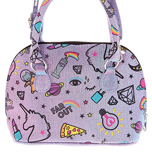M Girl's Purple PWR Crossbody Bag Claire's Unicorn 7Pgx18