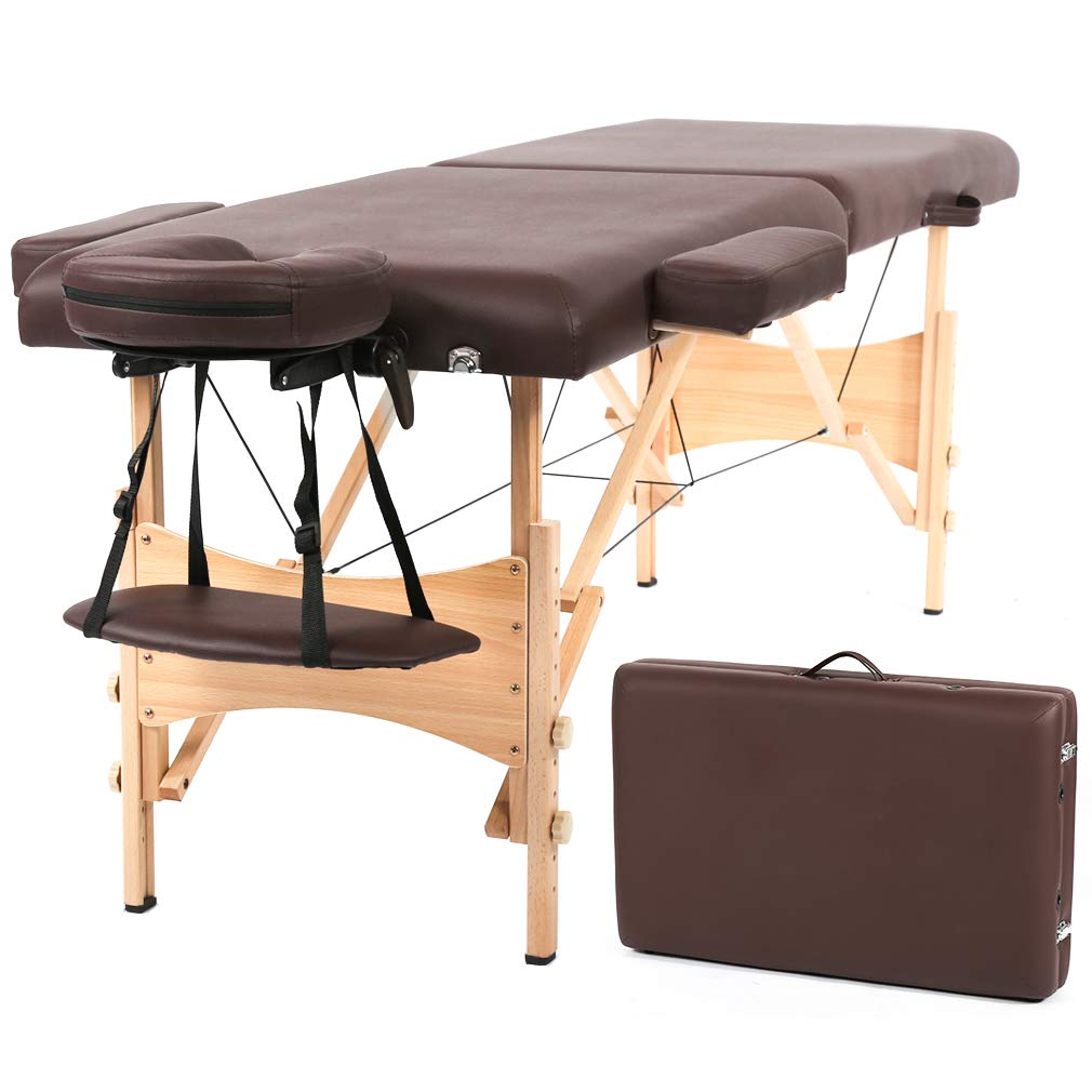 Massage Table Portable Massage Table Adjustable Height Massage Bed with Storage for Woman & Man BestMassage