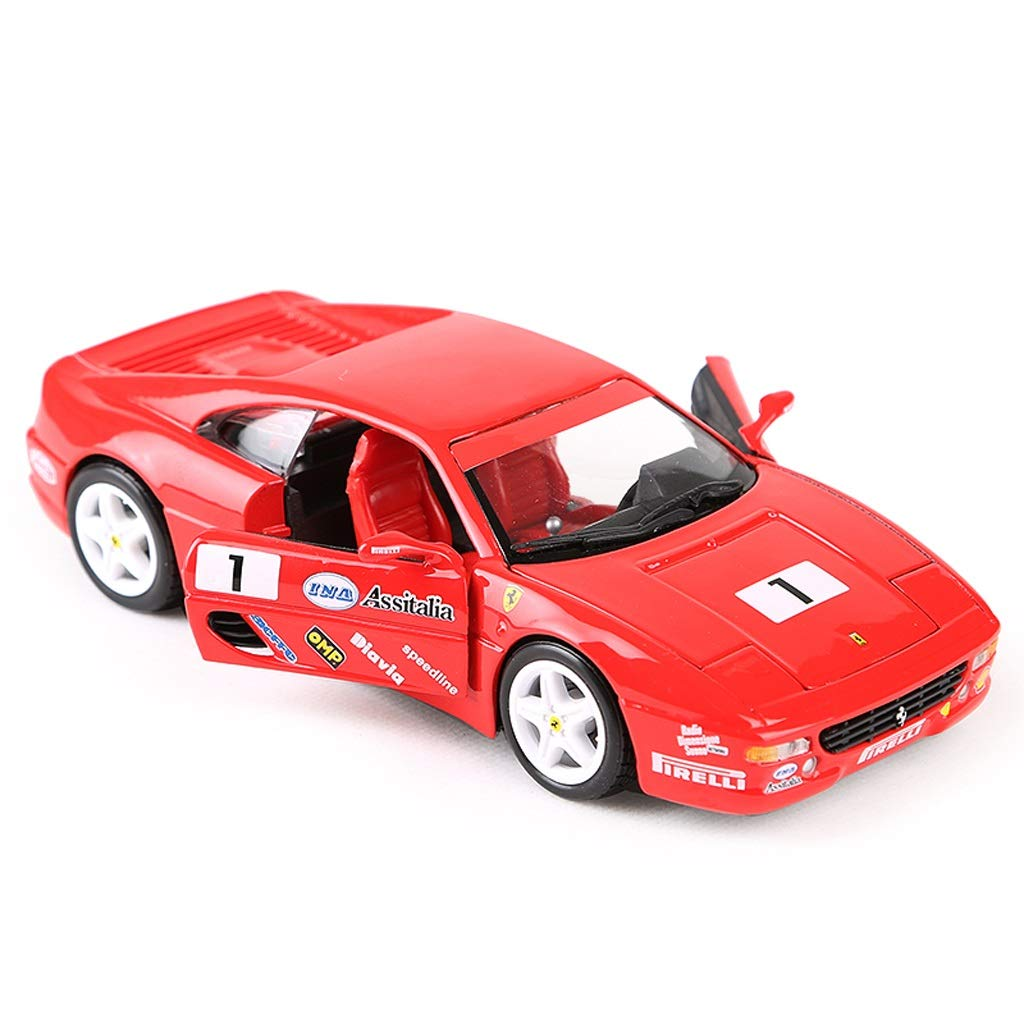 LBYMYB Car Model Car 1 24 Ferrari F355 Challenge Simulation Alloy Diecasting Toy Jewelry Sports Car Collection Jewelry 17.5x8x4.5CM