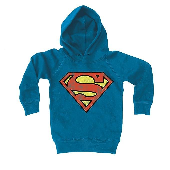 Logoshirt Sudadera con Capucha para niños Superman Logotipo - DC Comics - Superman Logo - Suéter con Capucha para niño - Azul - Diseño Original con ...