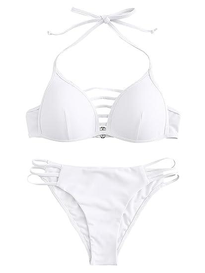 0d7afd06c SOLY HUX Maillots de Bain 2 Pièces Push-up Bikini de Plage Taille Haute  Rembourré Noir