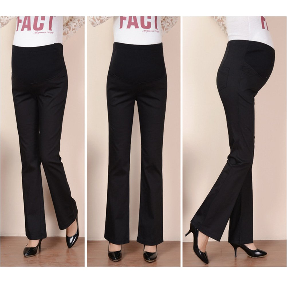 41d615e96fc21 Zhuhaitf Women Flare Belly Care Pants Loose Maternity Trousers for  Comfortable at Amazon Women's Clothing store: