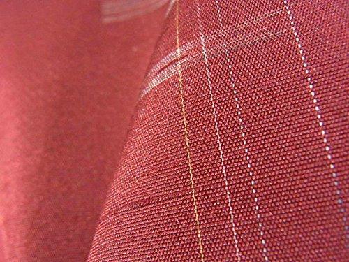 リサイクル 着物 紬 格子に井桁や幾何学模様 正絹 袷 裄65.5cm 身丈164cm