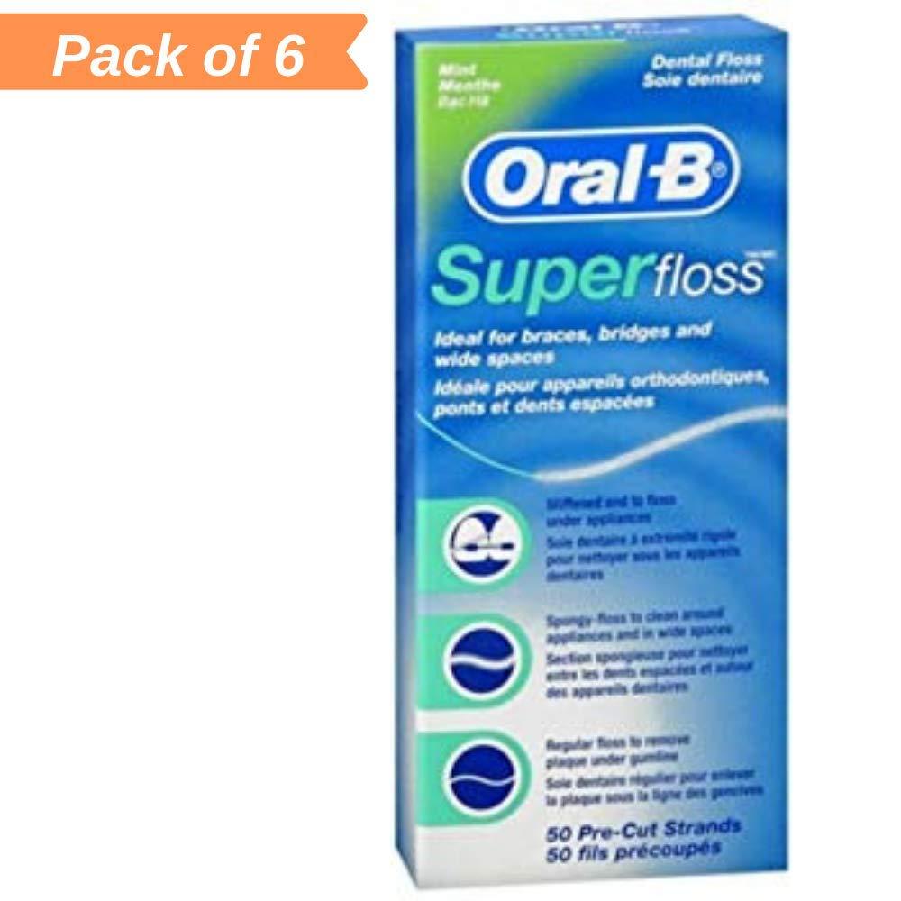 Floss Mint Dental Floss50 ea (Pack of 6)