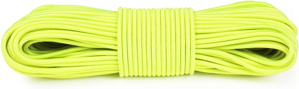 100 Feet Camping Essential 150lb Test Atwood Rope MFG Polyester Shock Cord Bungee Cord 50 Without Hooks Motorcycle Accessories 5//32 Inch 25