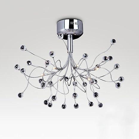 Moderno LED Iluminación de Techo, Romántico Ramas Hierro ...