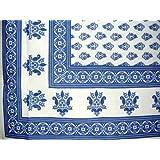 """Monotone Buti Tablecloth-60"""" x 60"""" Square"""