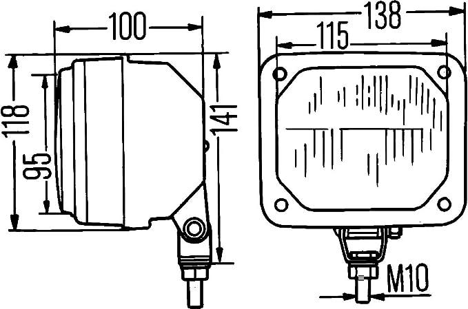 Links oder Rechts HELLA 1TA 003 570-101 Hauptscheinwerfer