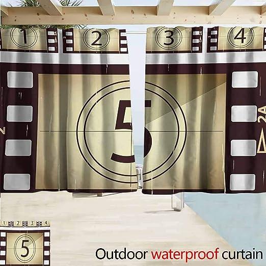 Wlkecgi - Cortina de pérgola para Cine con Dibujo a Mano de un proyector de vídeo en Tonos Azules, símbolo de Cine de eficiencia energética, oscurecimiento de Habitaciones, Violeta, Azul y Gris: