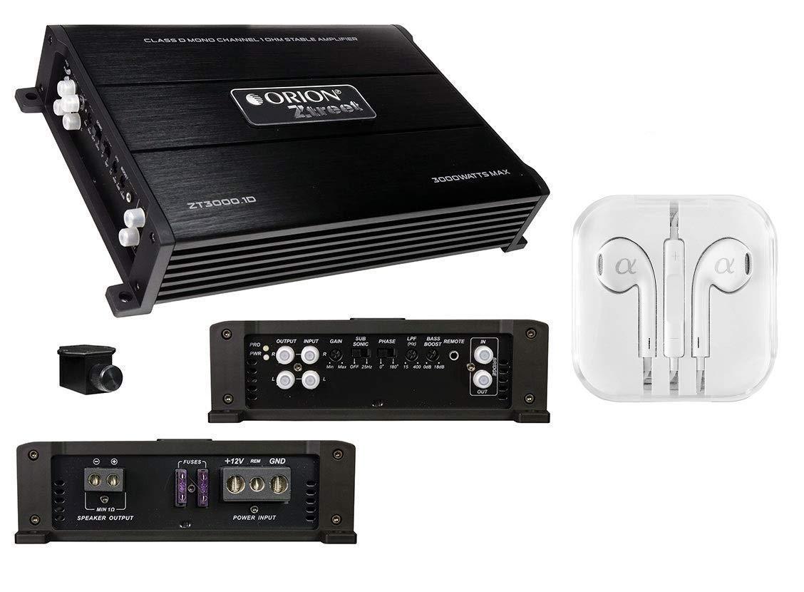 Orion Zt50001d Ztreet Series 1 Channel 5000w Max Class Lanzarr Ampkit4 4 Gauge Contaq Amplifier Wiring Kit D Monoblock Ohm Stable Car Audio Remote Bass Knob Free Alphasonik Earbuds