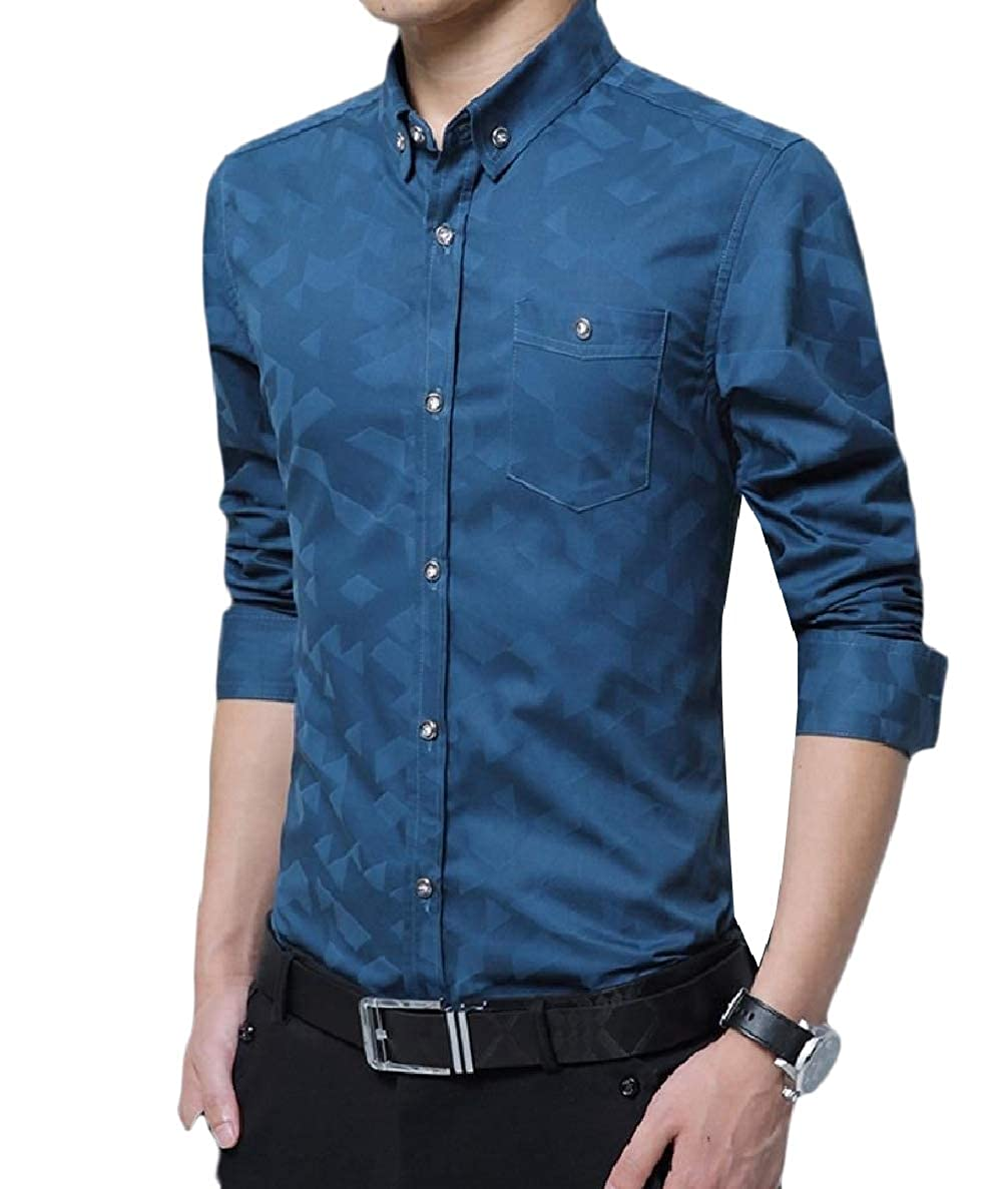 Winwinus Mens Regular Fit Pocket Thickened Printing Fleece Blouses T-Shirts
