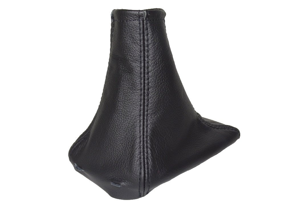 Gear Stick Gaiter with Plastic Frame Black Leather The Tuning-Shop Ltd