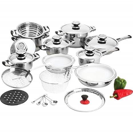 Amazon.com: Batería de cocina de acero inoxidable de ...