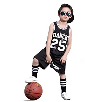 c59664ba7 Boys Hip Hop Dance Costume Street Jazz Dance Set Basketball Skateboard  Clothing (3 years,