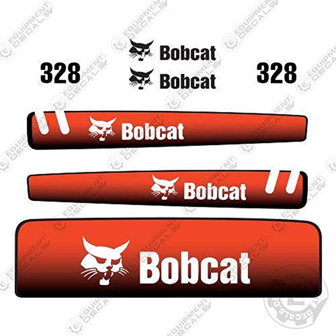Bobcat 325d Mini Digger Decalcomania Set