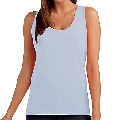 73f5b4f23e21e Hanes Tasty Womens Sleeveless Plain Cotton Tank Top - Sky Blue - 2XL  Amazon.co.uk   Clothing