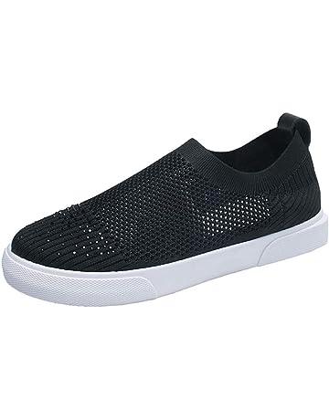 Zapatillas Deporte, Womens Leisure Outdoors Casual Shoes (Amarillo,Negro,Blanco)