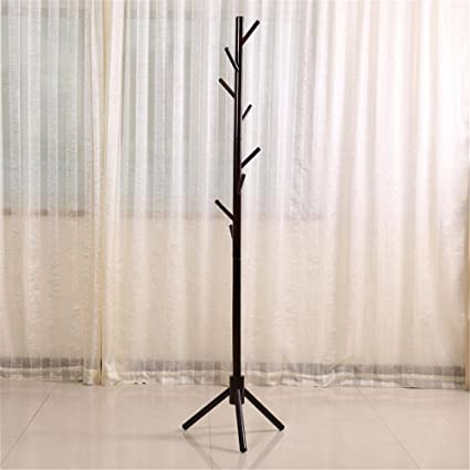 Amazon Wood Coat Rack Hall TreeCoffeeColors Entryway Standing Interesting Wooden Coat Hanger Rack