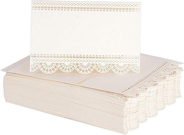 50/X DA Blanc WA porte-nom pour table de mariage Nom Place Cartes carte de num/éro de table D/écoration de f/ête de mariage