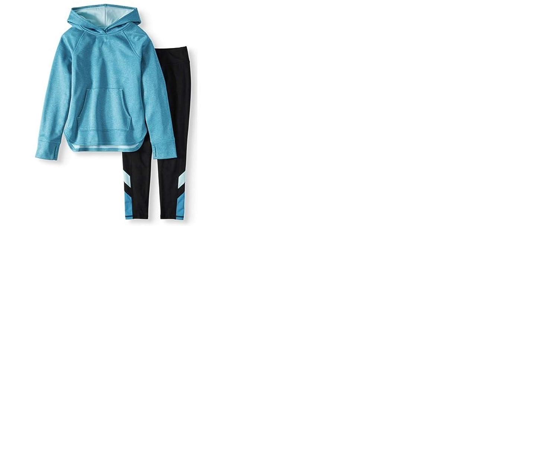 2-Piece Active Set Blue Athletic Works Brushed Fleece Crossover Hoodie /& Legging