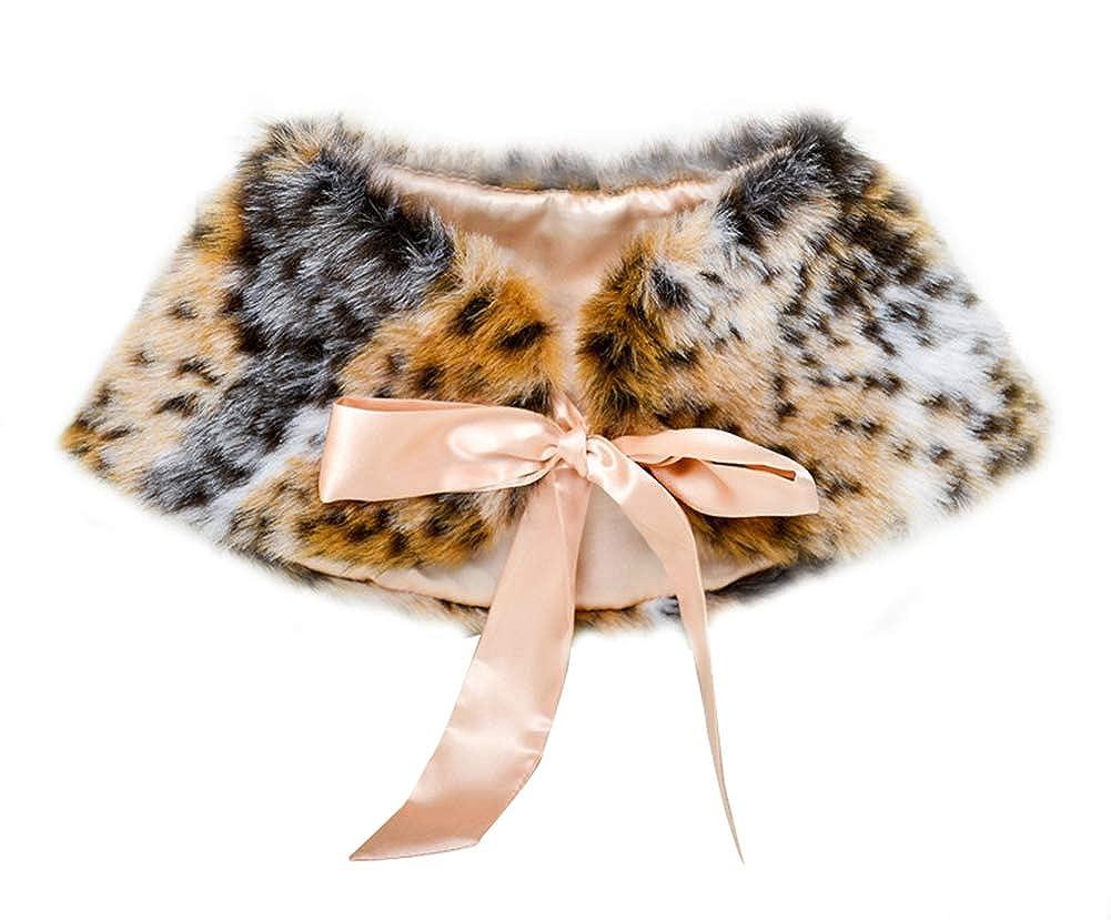 Baby Girls Faux Fur Shrug Princess Wedding Party Cape Warm Wrap Bolero Jacket