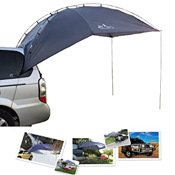 TOP-MAX Car Rack Awning Canopy Camper Trailer Roof Top Tent Beach Camping  SUVs Truck UV Protection