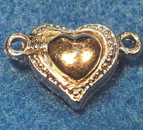 5Sets Tibetan Silver Heart Magnetic Clasps Connectors Beautiful Hooks MC14 Jewelry Making Supply Pendant Bracelet DIY Crafting by Wholesale Charms