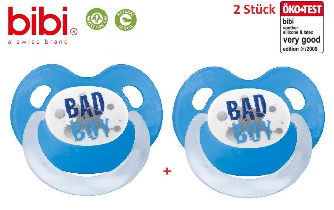 Bibi Chupete 2 x Chupete anatómica silicona Bad Boy Talla:0 ...