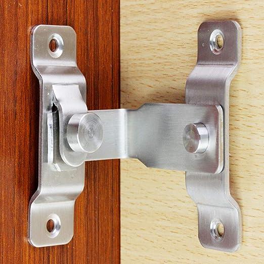 Cerrojo para puerta corredera 100 mm, acero inoxidable Tiberham