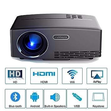 Proyector Portátil Mini proyector Soporte 1920 * 1080 220lux LCD ...