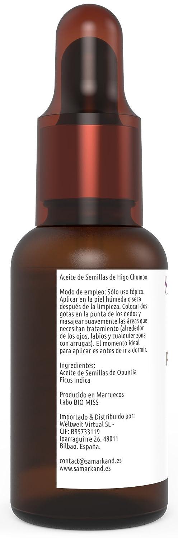 Aceite de Semillas de Higo Chumbo 100% Puro Orgánico 10 ml - Tratamiento Anti-envejecimiento Original de Marruecos (Certificado Ecocert & USDA): Amazon.es: ...