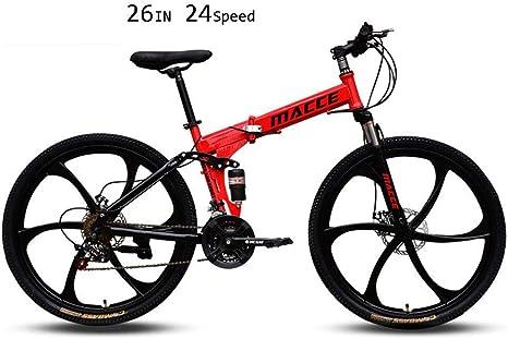 Bicicleta de montaña plegable de velocidad de 21/24/26 para ...