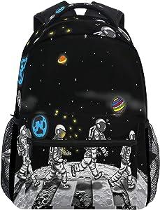Space Astronaut Backpacks Travel Laptop Daypack School Bags for Teens Men Women
